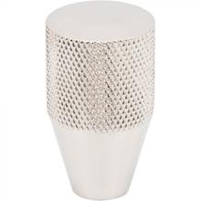 View Product - Beliza Conical Knurled Knob 3/4 Inch Polished Nickel Polished Nickel