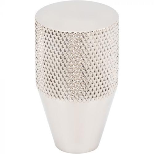 Vesta Fine Hardware - Beliza Conical Knurled Knob 3/4 Inch Polished Nickel Polished Nickel