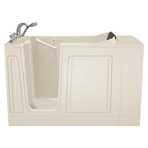 Luxury Series 28x48-inch Left Drain Walk-in Bathtub Whirlpool with Tub Faucet  American Standard - Linen