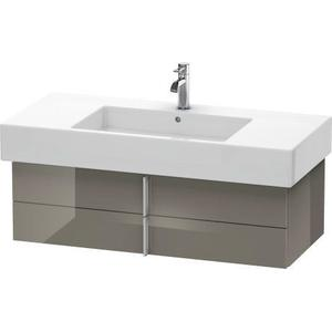 Vanity Unit Wall-mounted, Flannel Gray High Gloss (lacquer)