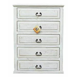 Million Dollar Rustic - Weathered White 5 Drw Chest