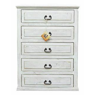 See Details - Weathered White 5 Drw Chest