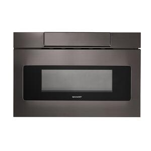 Sharp Appliances24 in. 1.2 cu. ft. 950W Sharp Black Stainless Steel Microwave Drawer Oven