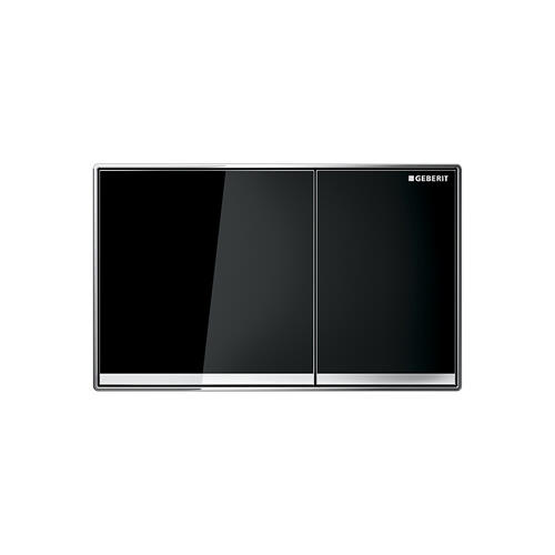 Sigma60 Dual-flush plates for Sigma series in-wall toilet systems Black glass Finish