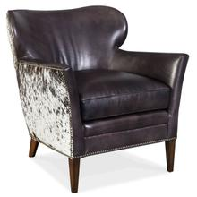 Living Room Kato Leather Club Chair w/ Salt Pepper HOH