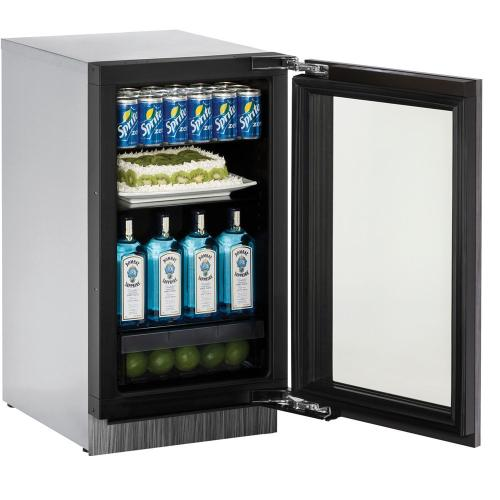 "3018RGL Refrigerator 18"" RHH Glass Door"