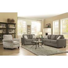 Bardem Grey Three-piece Living Room Set