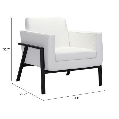 Zuo Modern - Homestead Lounge Chair White
