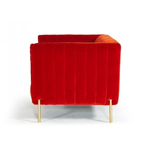 VIG Furniture - Divani Casa Karla - Modern Red & Orange Dual-tone Velvet Sofa