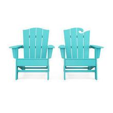 View Product - Wave 2-Piece Adirondack Chair Set with The Crest Chair in Aruba