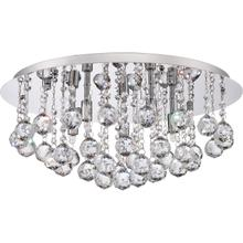 View Product - Bordeaux With Clear Crystal Flush Mount in Polished Chrome