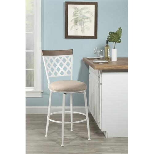 Greenfield Commercial Swivel Counter Height Stool, White