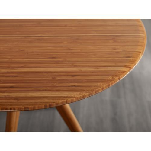 "Greenington Fine Bamboo Furniture - Sitka 36"" Round Dining Table, Amber"
