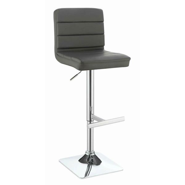 See Details - Contemporary Chrome Adjustable Bar Stool