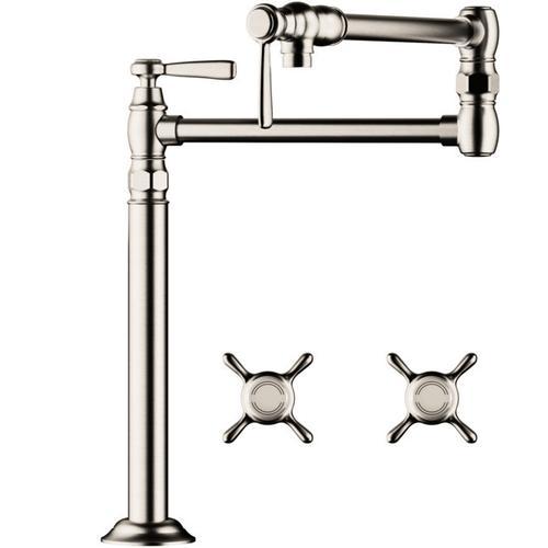 Polished Nickel Single lever kitchen mixer