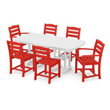 View Product - La Casa Cafu00e9 7-Piece Dining Set in Sunset Red