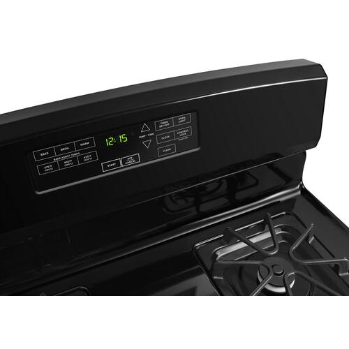 30-inch Gas Range with Self-Clean Option Black