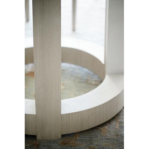 "Axiom Round Dining Table (60"") in Linear Gray (381), Linear White (381)"