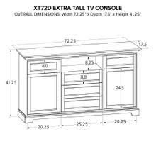 XT72D Extra Tall Custom TV Console