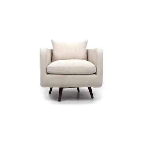 Savile Flax Cover Kaya Swivel Chair