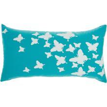 "Outdoor Pillows L0204 Turquoise 12"" X 22"" Throw Pillow"