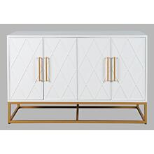 "Argyle Glen 50"" Accent Cabinet - White/gold"