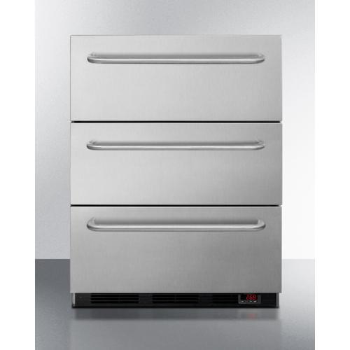 """Summit - 24"""" Wide 3-drawer All-freezer"""