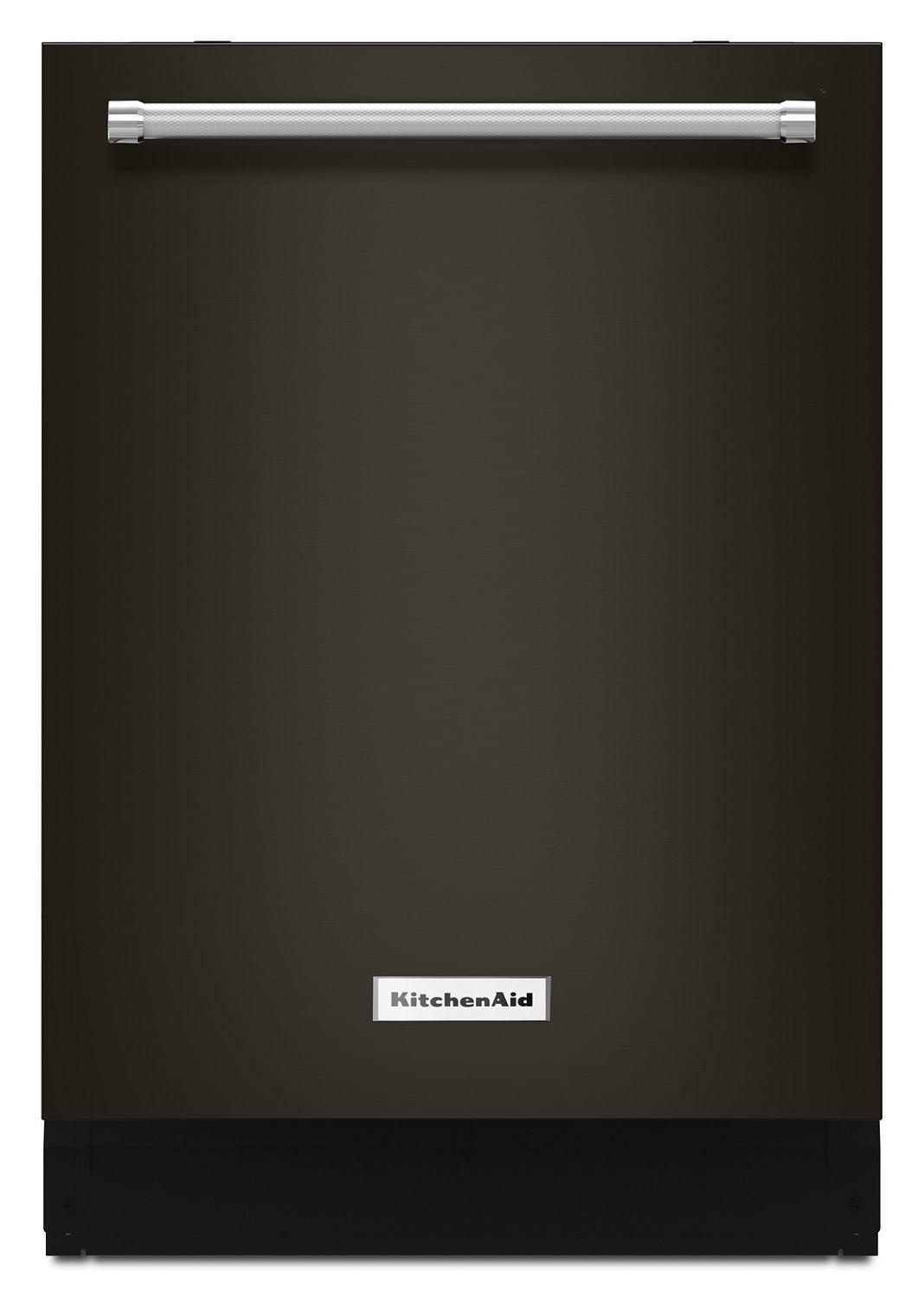 Kitchenaid44 Dba Dishwasher With Clean Water Wash System Black Stainless Steel With Printshield™ Finish