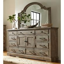 Dresser \u0026 Mirror - Weathered Gray Finish