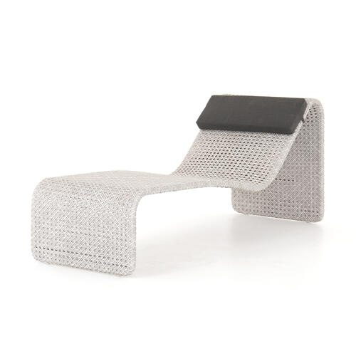 Paige Outdoor Woven Chaise-brushed Grey