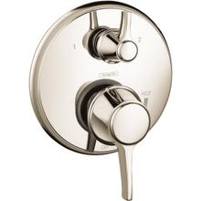 Polished Nickel Pressure Balance Trim with Diverter, Round