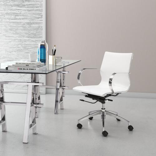 Zuo Modern - Glider Low Back Office Chair White