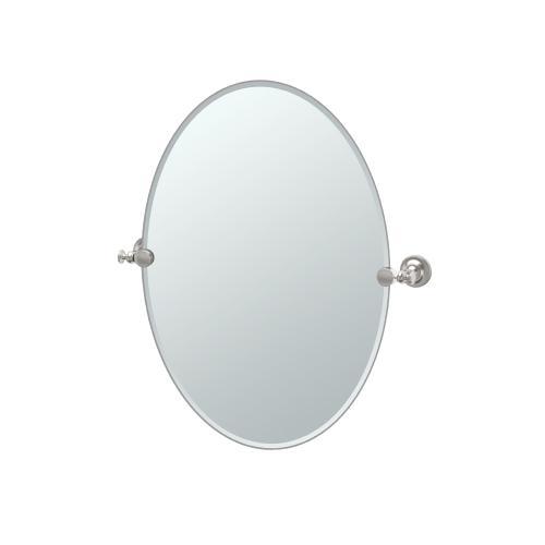 Tavern Oval Mirror in Satin Nickel