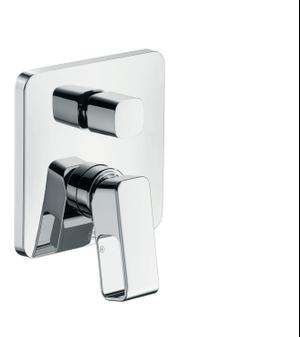 Chrome Single lever bath mixer for concealed installation Product Image