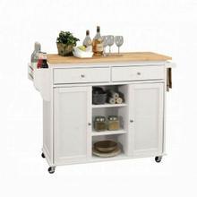 ACME Tullarick Kitchen Cart - 98305 - Natural & White