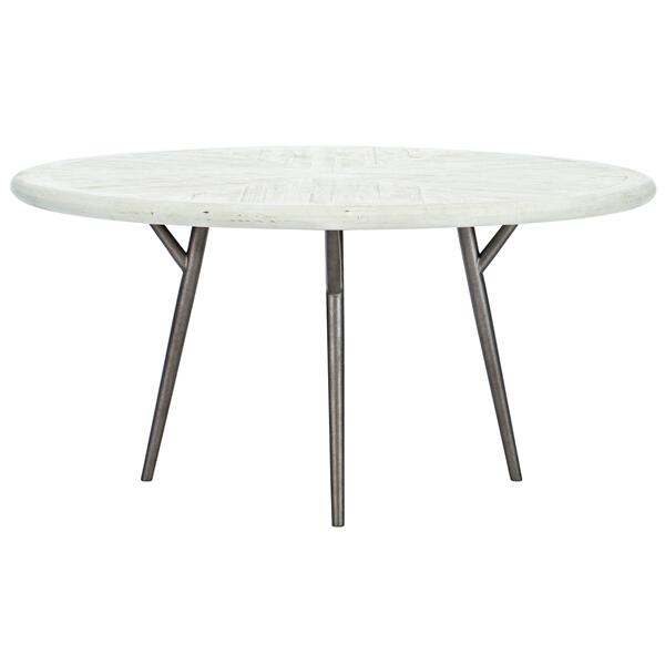 See Details - Presley Round Dining Table in Brushed White