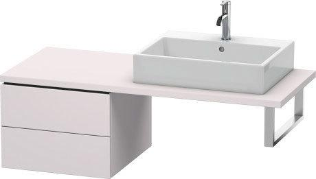 Low Cabinet For Console, White Lilac Satin Matte (lacquer)