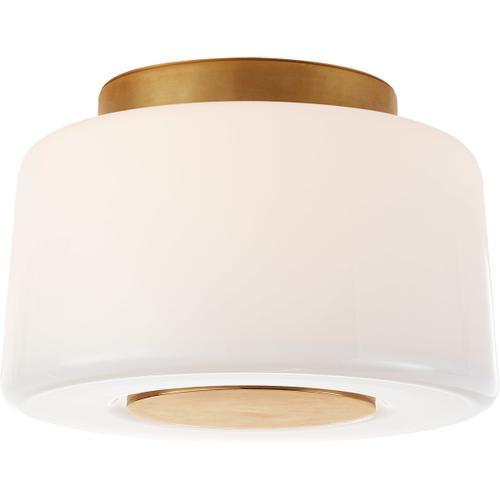 Barbara Barry Acme 3 Light 9 inch Soft Brass Flush Mount Ceiling Light, Small