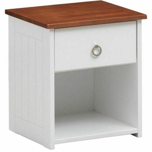 ACME Farah Nightstand - 30833 - White & Oak