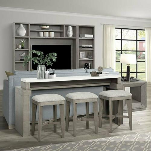 PURE MODERN Everywhere Console with 3 Stools