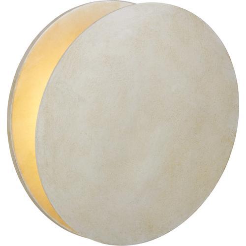 AERIN Gabriela LED 12 inch Burnished Silver Leaf Round Wall Washer Wall Light