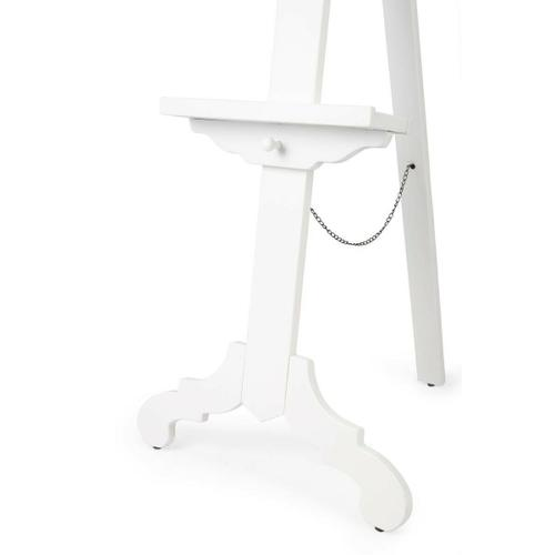 Butler Specialty Company - Display cherished photography and artwork on this lovely easel. Crafted from poplar hardwood solids, it features a White finish with a height adjustable base along the front support.