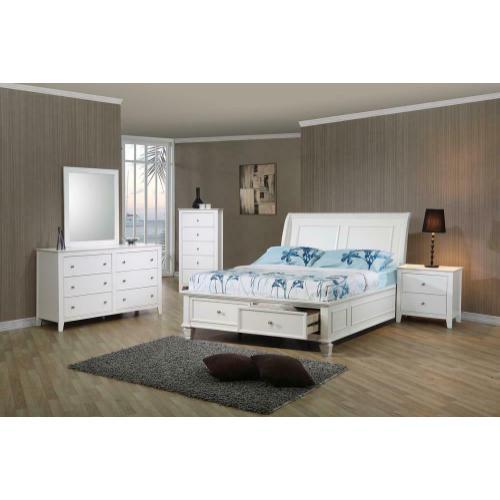 Selena Coastal White Full Bed