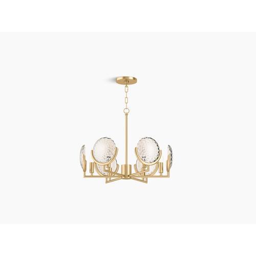 Kohler - Brushed Moderne Brass Six-light Chandelier