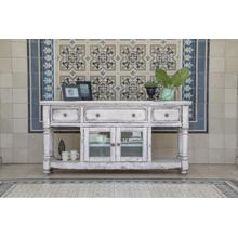 """See Details - 70"""" TV Stand, w/3 Drawers & 2 Doors, in White Finish"""
