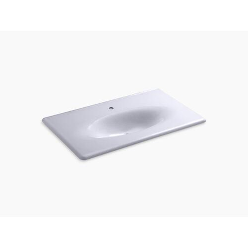 "Lavender Grey 37"" Vanity-top Bathroom Sink With Single Faucet Hole"