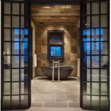 See Details - Papillon Bathtub Honed Black Granite