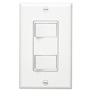 2-Function Control, White, 15 amp, 120V