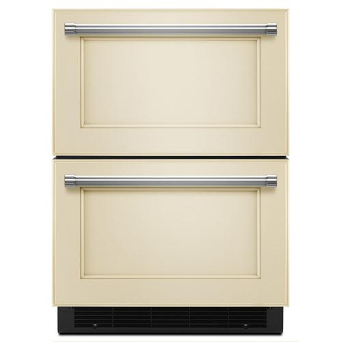"KitchenAid - 24"" Panel Ready Double Refrigerator Drawer Panel Ready"
