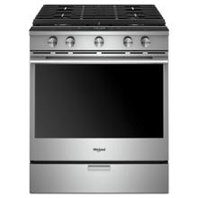 See Details - 5.8 cu. ft. Smart Front Control Gas Range with EZ-2-Lift™ Hinged Cast-Iron Grates